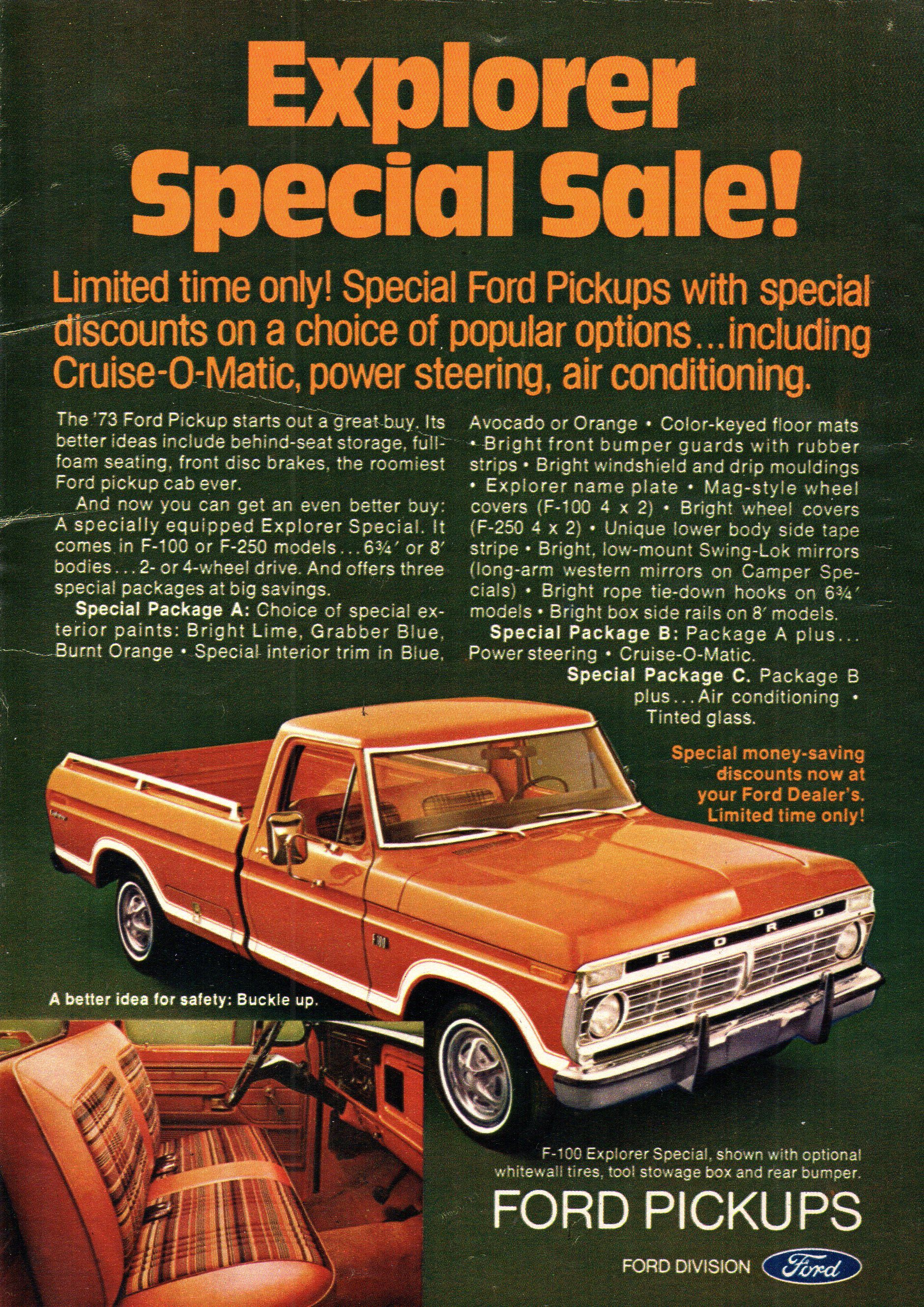 1973 Ford F Series Pickup Truck USA Original Magazine