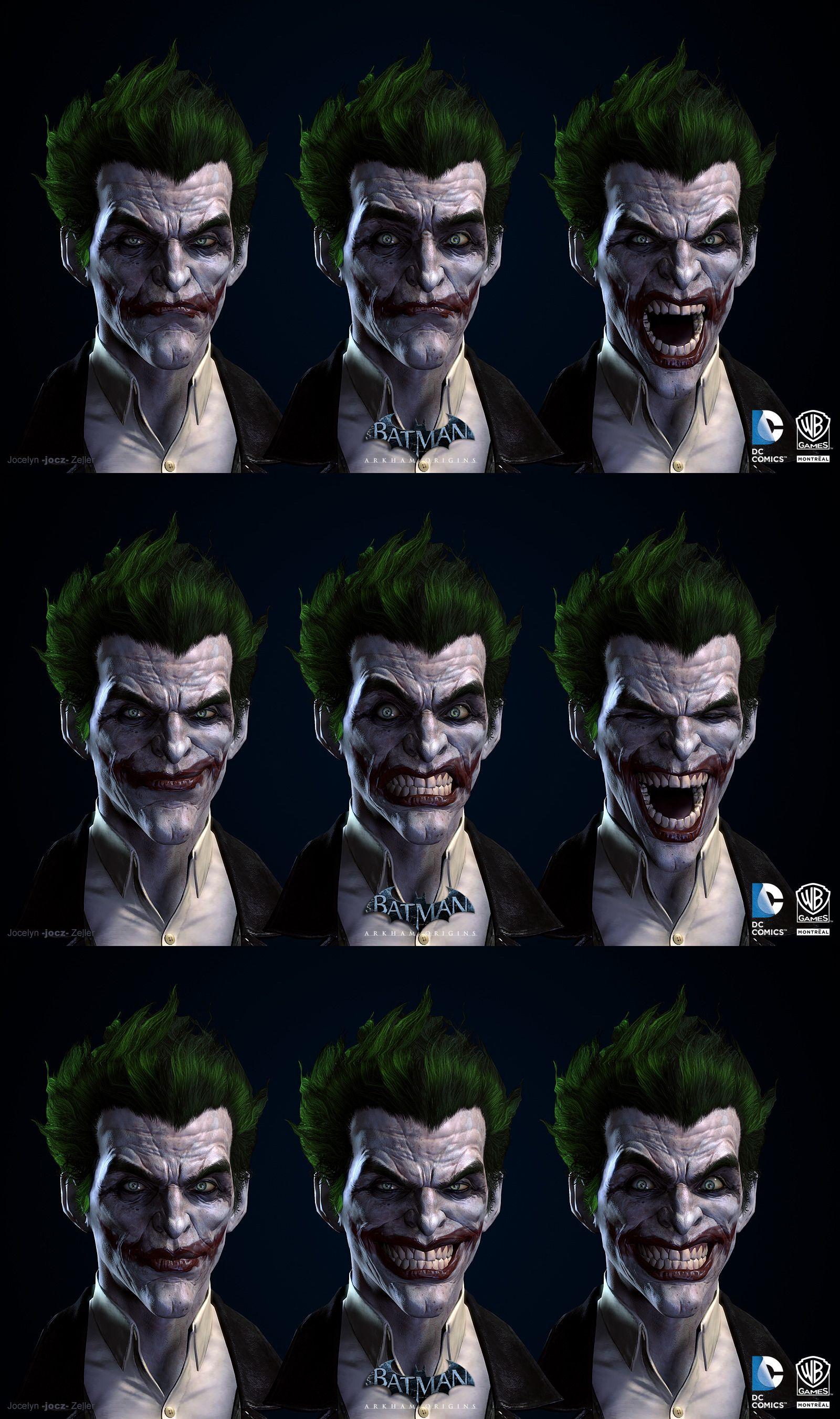 Batman arkham origins joker blendshapes by jocz 3d stills batman arkham origins joker blendshapes by jocz voltagebd Images