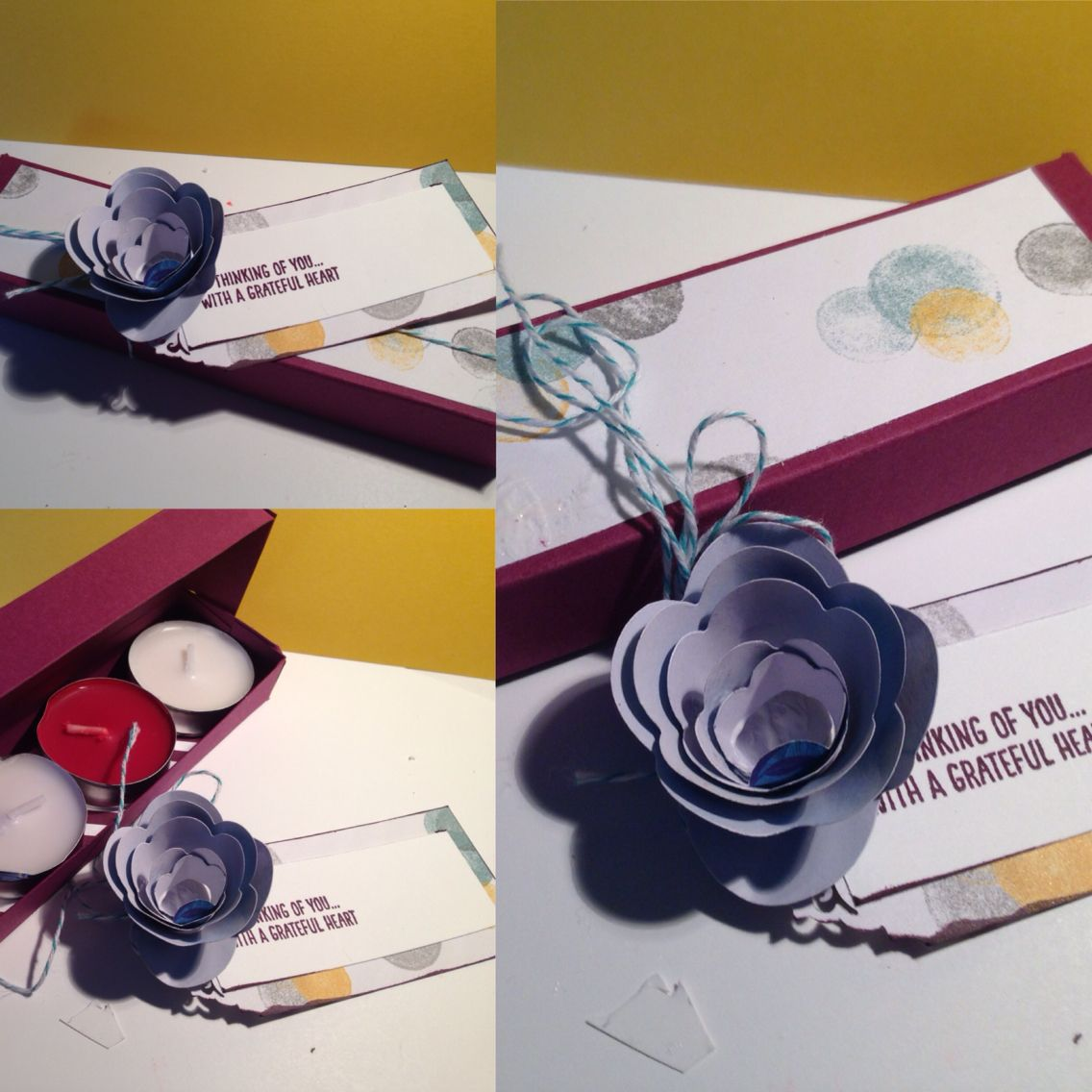 Quick Tea Light Box. All products used are by Stampin Up.