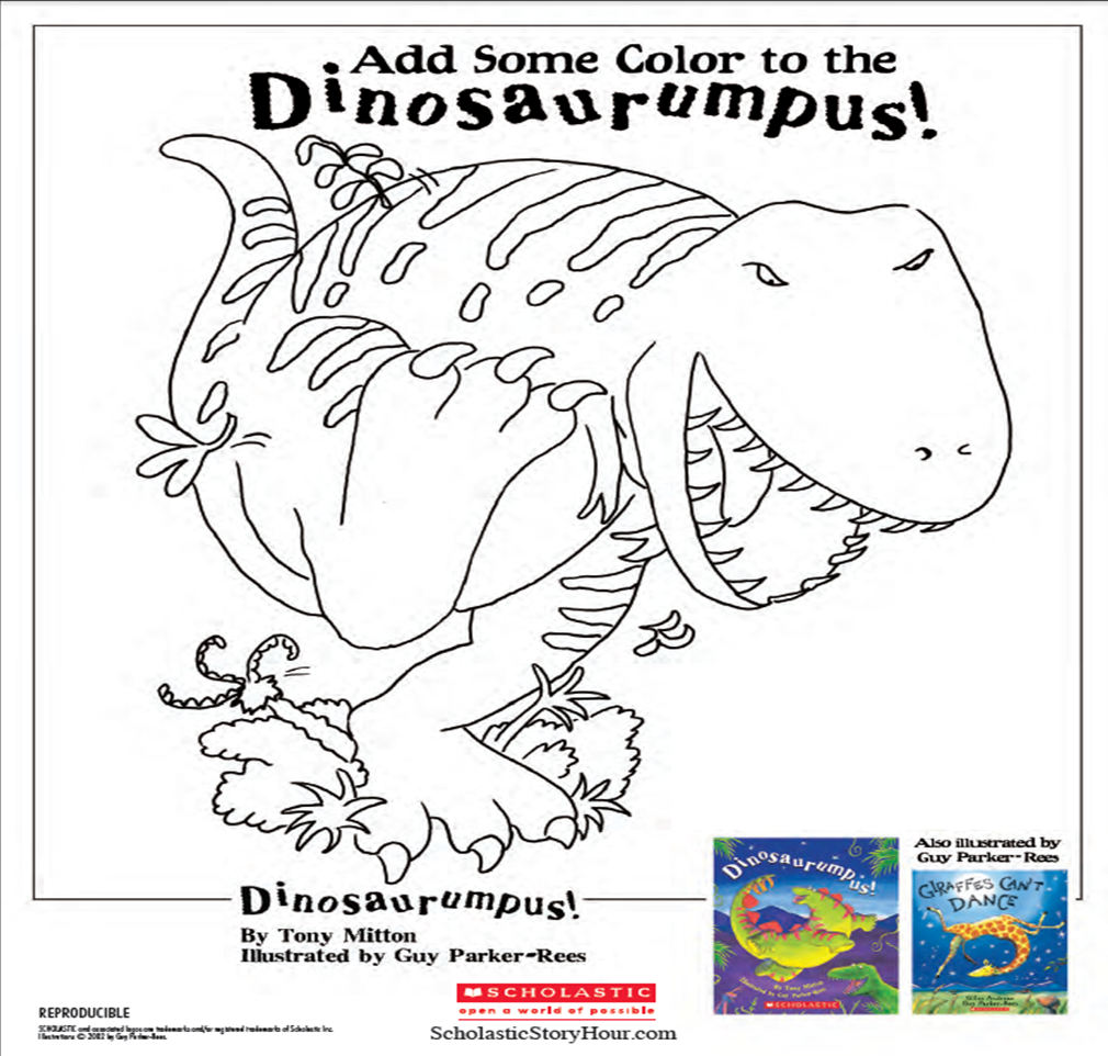 dinosaurumpus activity kit activitykit coloring coloringsheet
