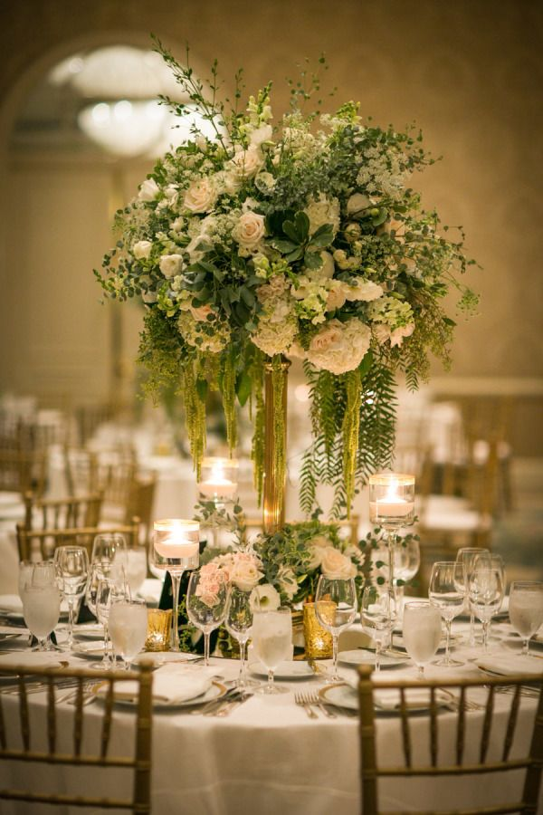 Classic beverly hills ballroom wedding best floral