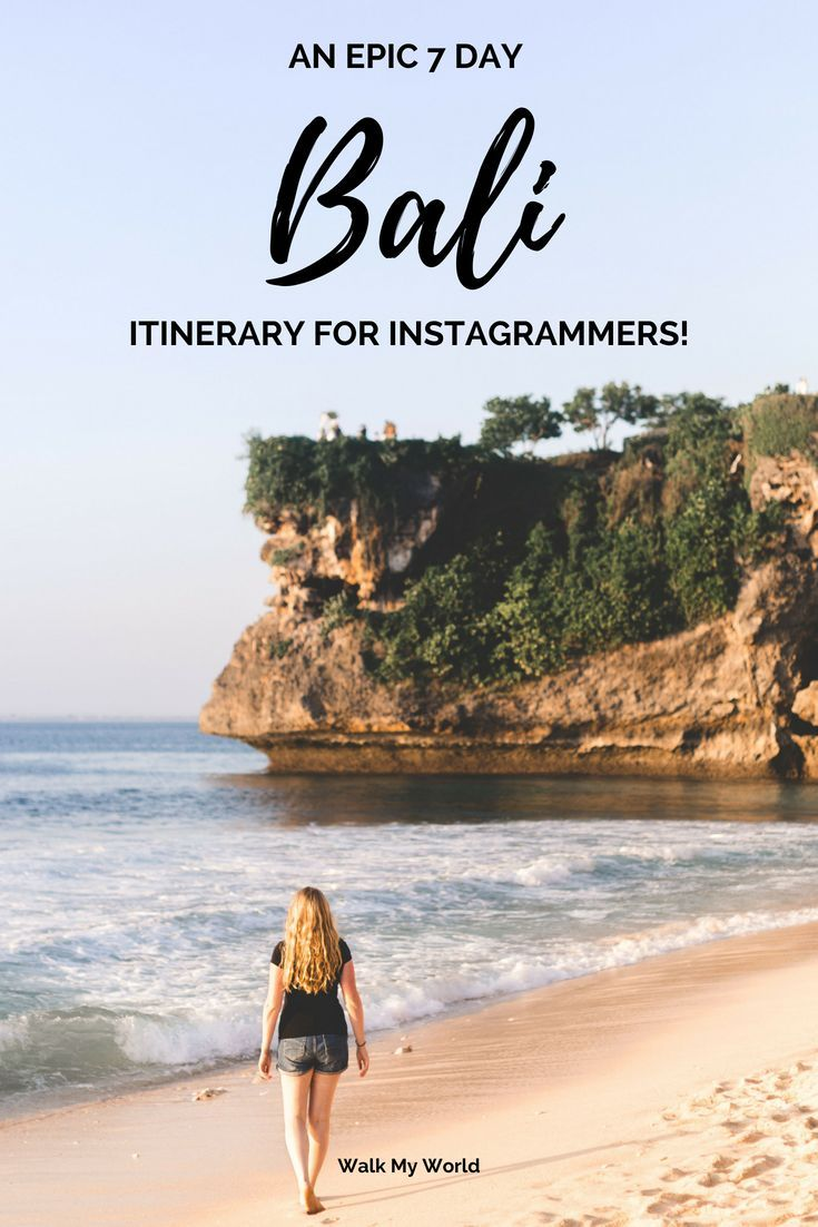 Bali is an Instagrammer's dream location. There are so many amazing photography spots it can be hard to know where to start. Don't worry we have you covered with this indepth 7 day Bali itinerary for Instagrammers.
