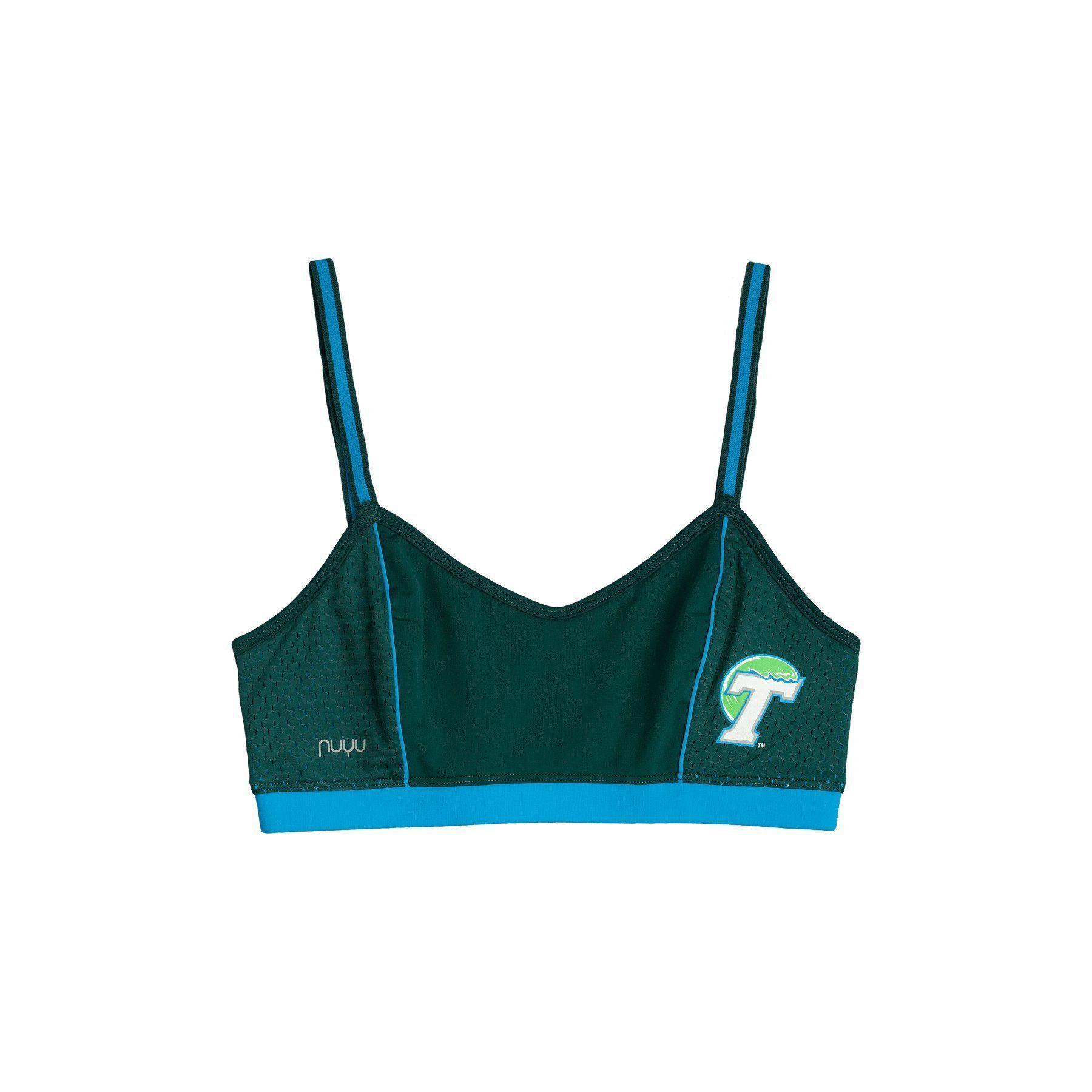 Tulane University Sporty Bralette with Back Straps
