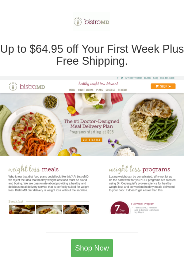 Up To 64 95 Off Your First Week Plus Free Shipping In 2020 Bistro Md Diet Recipes Food