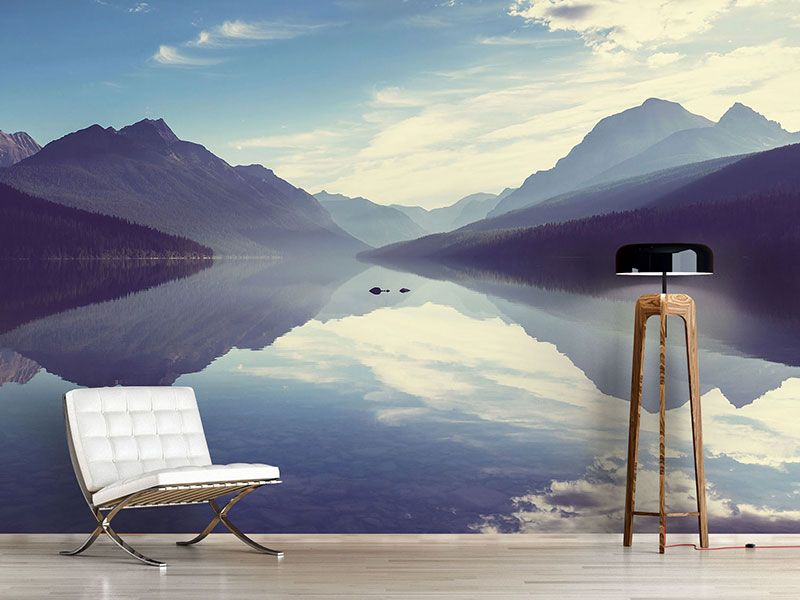 Wandtapete wohnzimmer ~ Foto #tapete bergspiegelung streichen pinterest fototapete