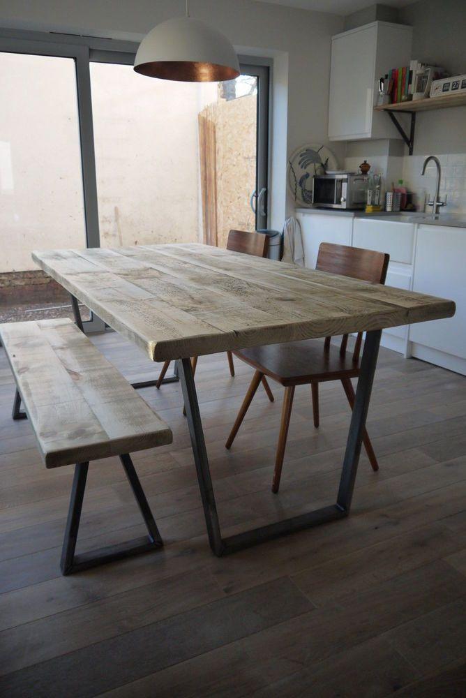 John Lewis Calia Style 120x80 Industrial Reclaimed Plank Top