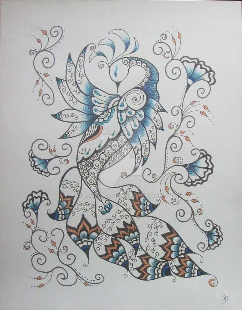 Henna designs peacock henna peacock - Henna Peacock 2 By Msboyd Traditional Art Drawings Other 2010 2013