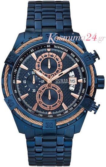 Αντρικό ρολόι guess W0522G3 από μπλε ανοξείδωτο ρολόι!  d99ded1bf89