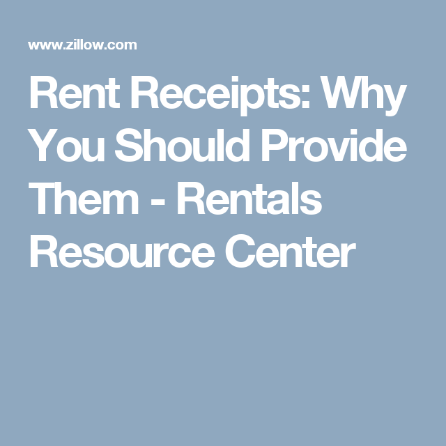 Rent Receipts Why You Should Provide Them Rentals Resource Center Rent Rental Receipt Template