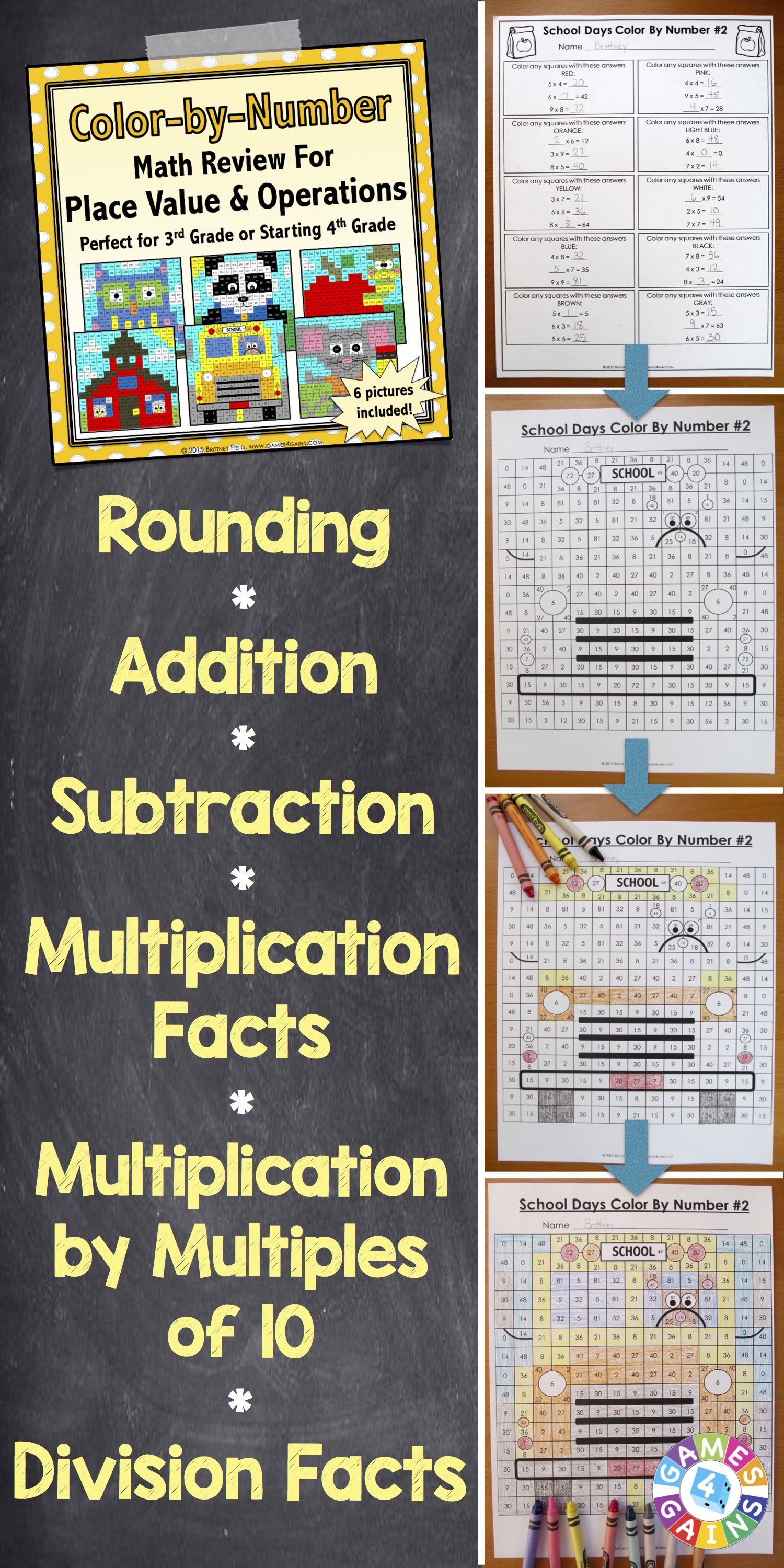 hight resolution of 3rd Grade Place Value Worksheets (4th Grade Back to School Math Review)    Fun math centers