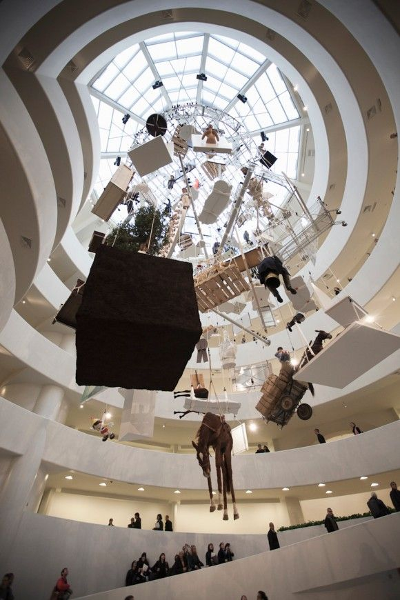 Maurizio Cattelan .- me encanta el Guggenheim como escenario, ésa es la verdad (Love the Guggenheim for exhibition and display)