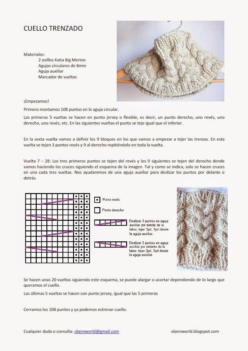 patron+cuello+calceta+dos+agujas+imagen+punto+gratis.jpg (818×1156 ...