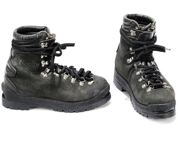 fa9b585fd54 US men 8 Mountaineering Climbing Boots Vibram Sole Hi Top 80s ...