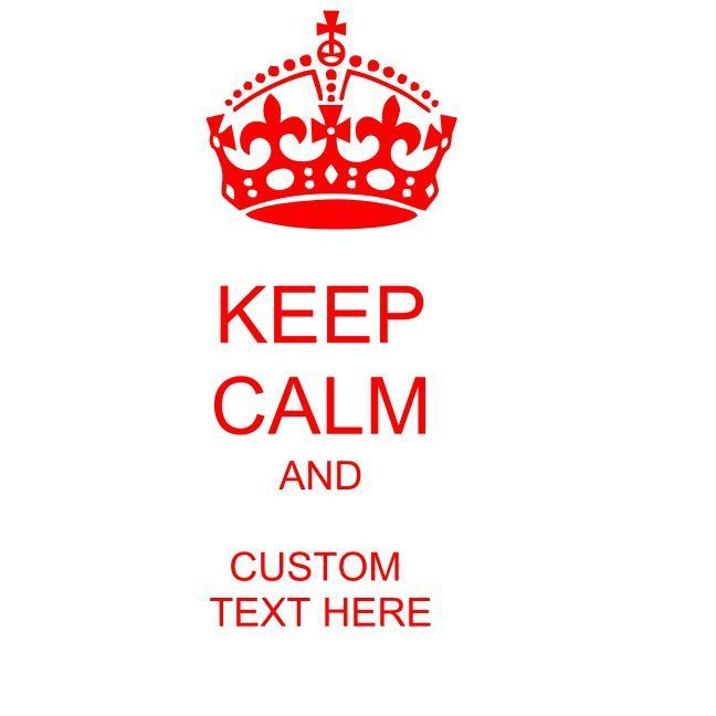 Keep calm and custom text here vinyl decal for cell laptop car pick colors size