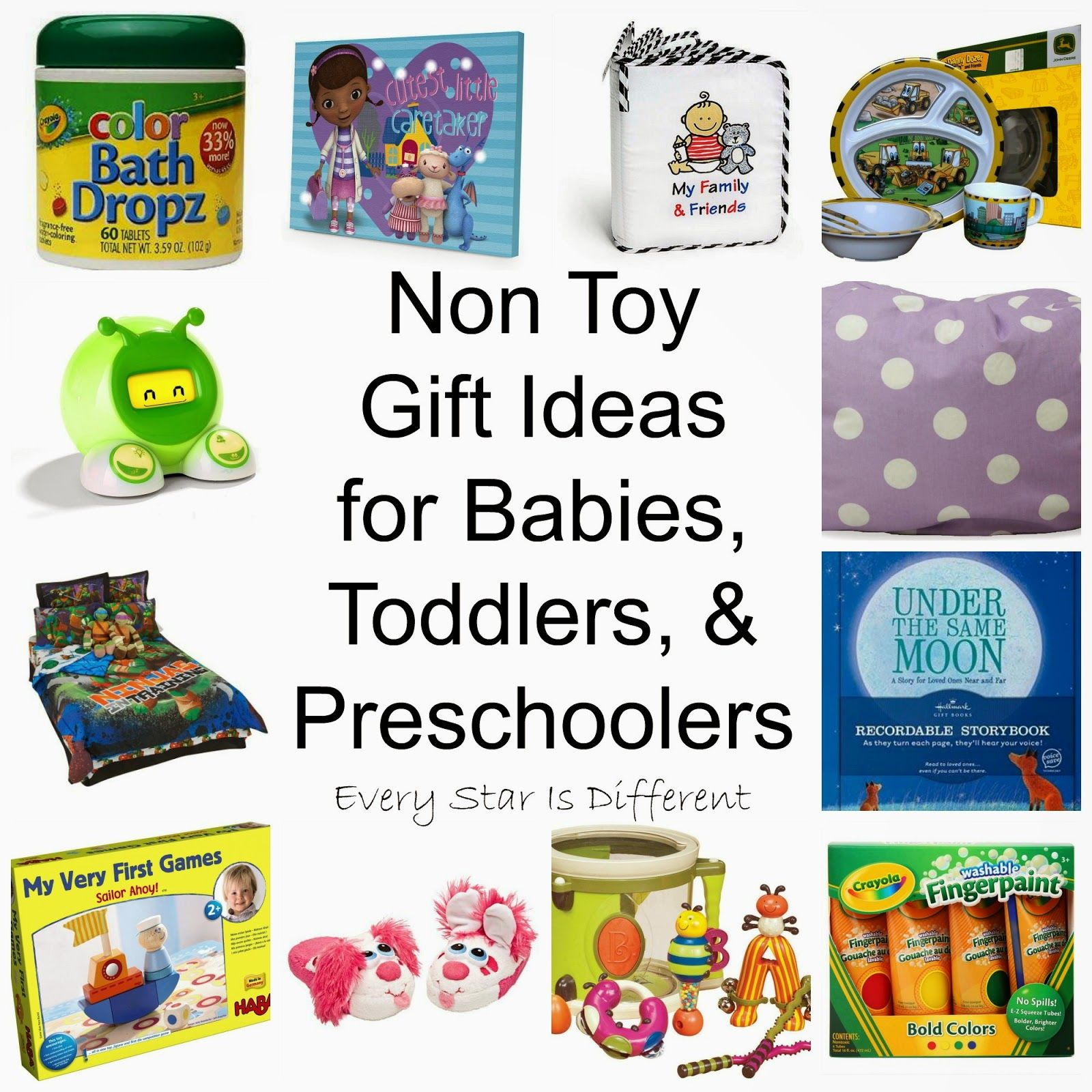 non toy gift ideas for babies, toddlers, & preschoolers | toddler