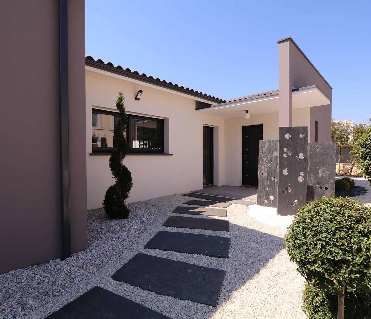 Porche D Entrée Maison Contemporaine de belles idées de porches d'entrée - quel constructeur