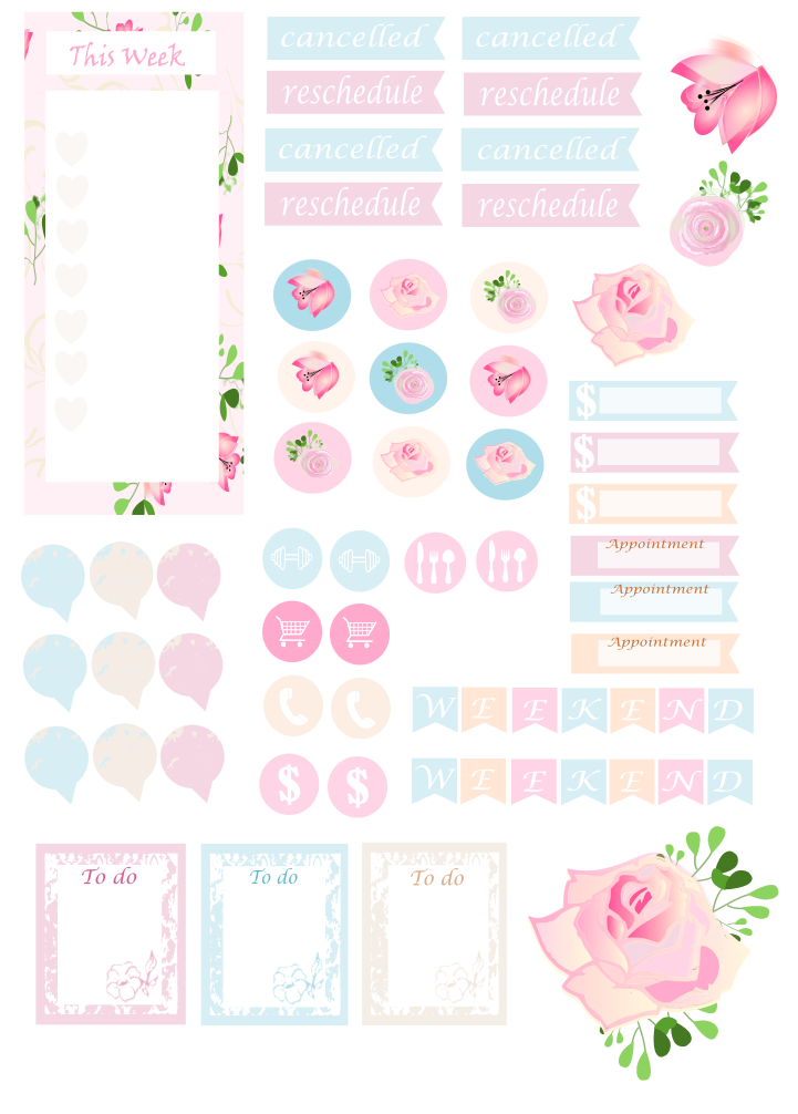Free Printable Floral Planner Stickers from Mama\'s Gone Crafty ...