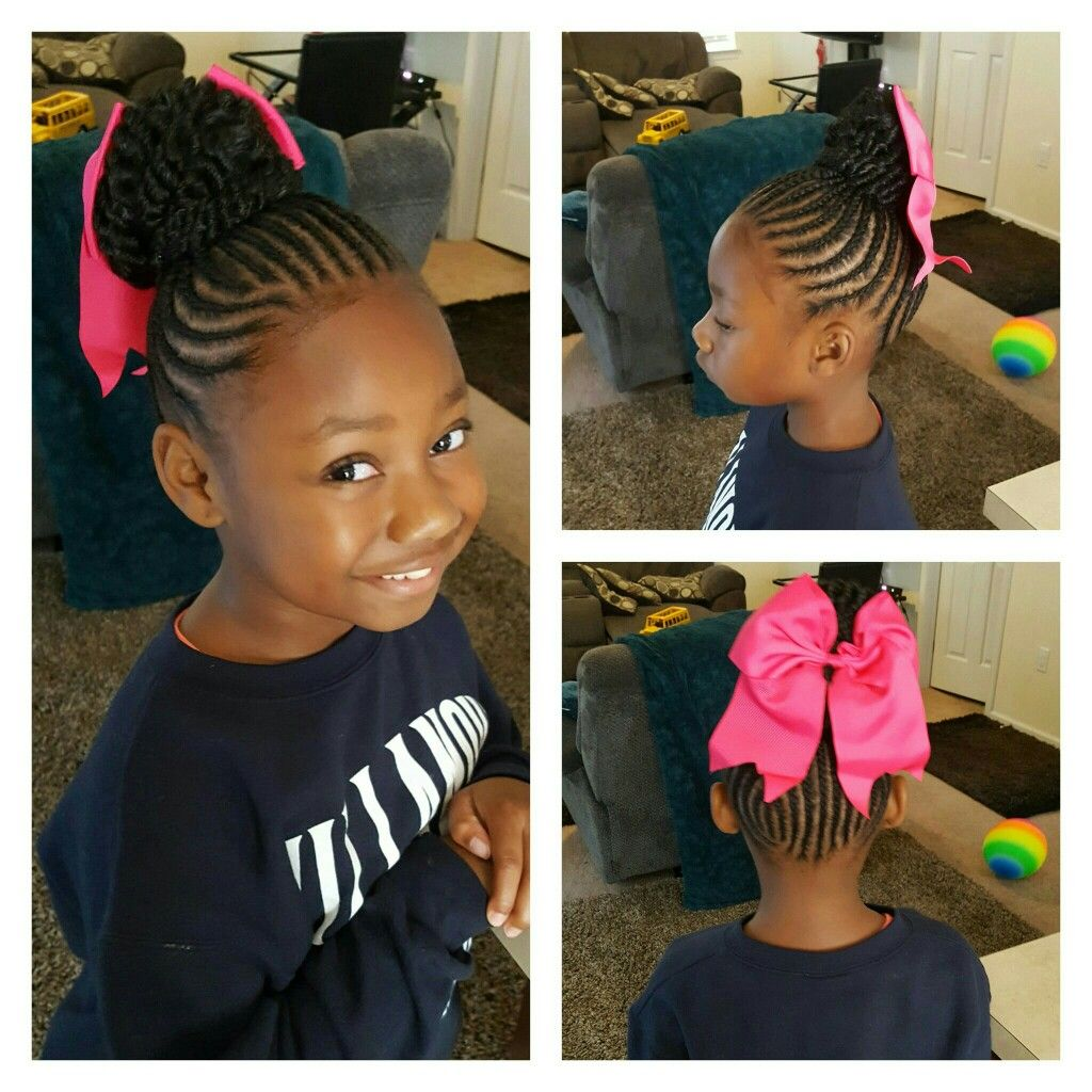 Braided Bun Kids Hairstyles Lil Girl Hairstyles Little Girl Hairstyles