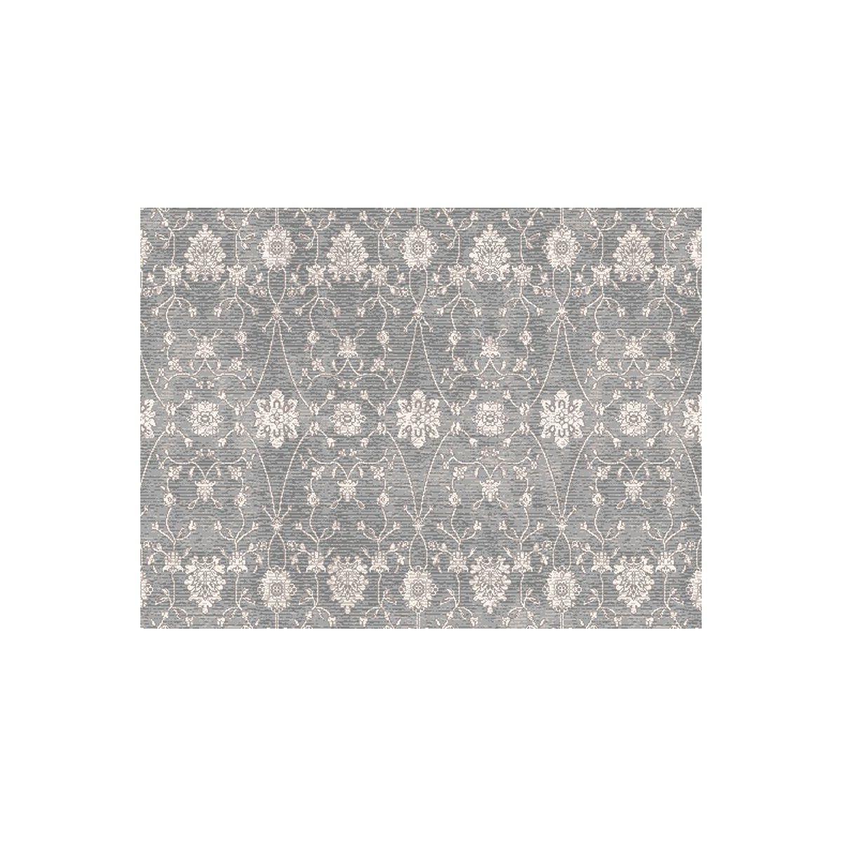 13 X 15 Mont Blanc Ornamental Motifs Gray And Ivory Rectangular