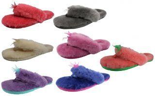 1fcfc79e9148 UGG Australia Fluff Flip Flop II Womens Thong Slippers Shoes ...