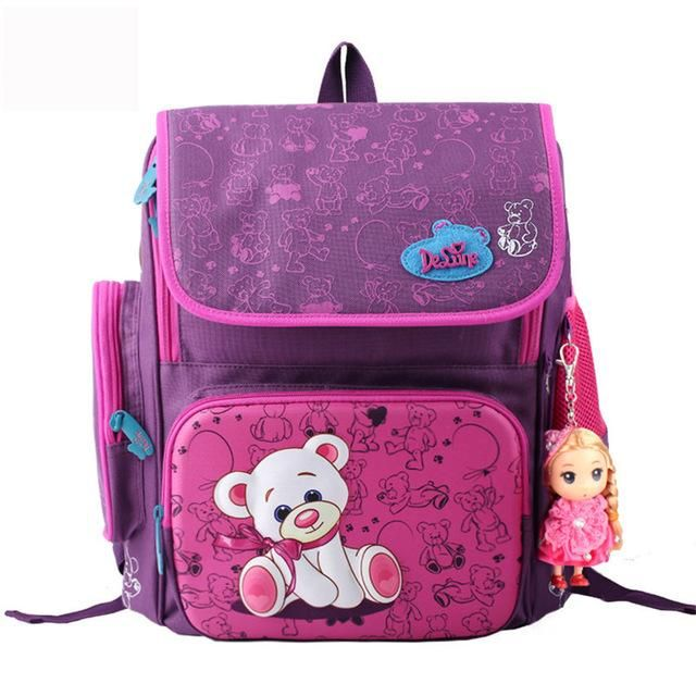 c23f7de20d73 Delune Brand Kids Cartoon School bags safe Orthopedic children school  Backpack For Girls School Bags For