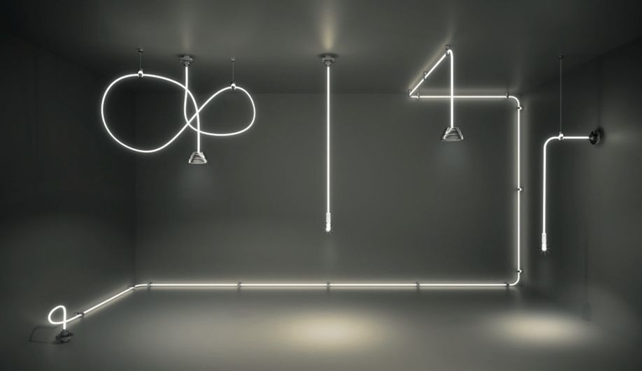 By such brands as Flos, Danese and Modular Lighting Instruments ...