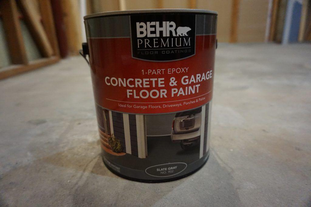 Behr 1 Part Epoxy Concrete Garage Floor Paint Garage Floor Paint Concrete Epoxy Diy Flooring