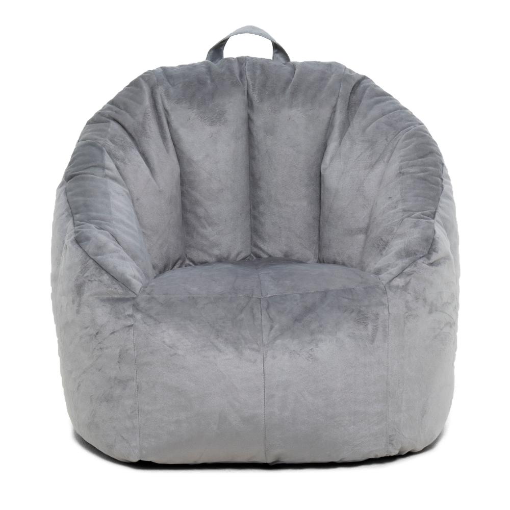 """Big Joe Joey Bean Bag Chair, Gray 28.5"""" x 24.5"""" x 26.5"""