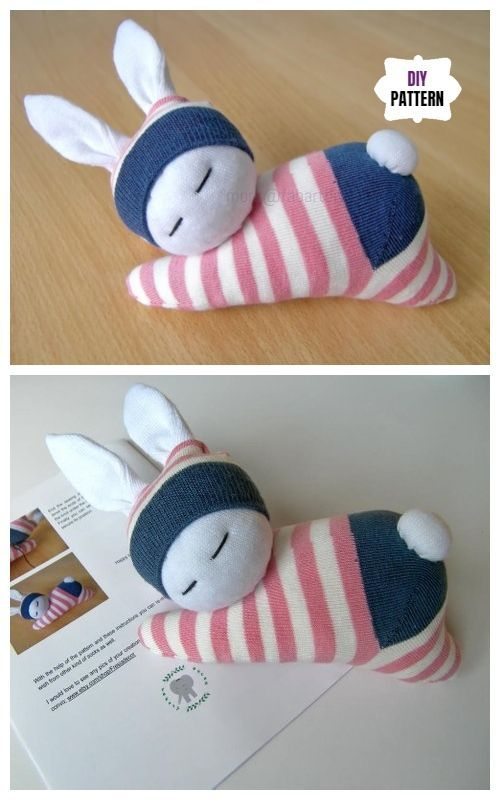 Sew Sock Bunny-10+ Cute Sock Bunny Projects Round Up #cutebabybunnies