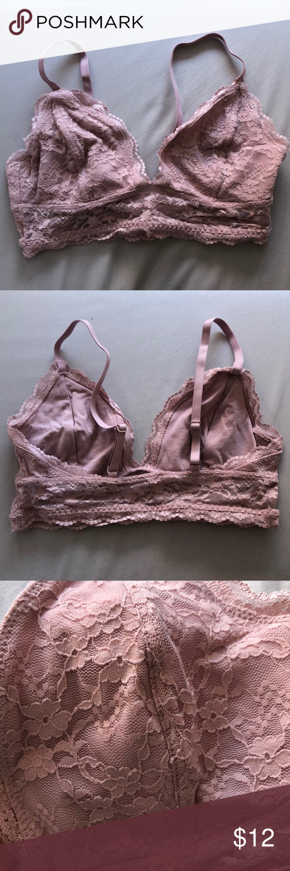d42077f7c344c9 Spotted while shopping on Poshmark  Pink lace bralette✨!  poshmark  fashion