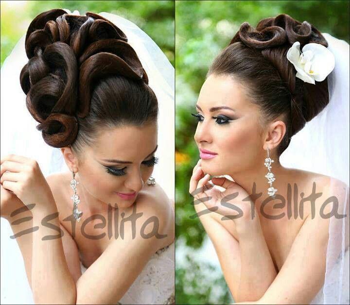 Iranian Bride Natural Hair Updo Hair Styles Dramatic Hair