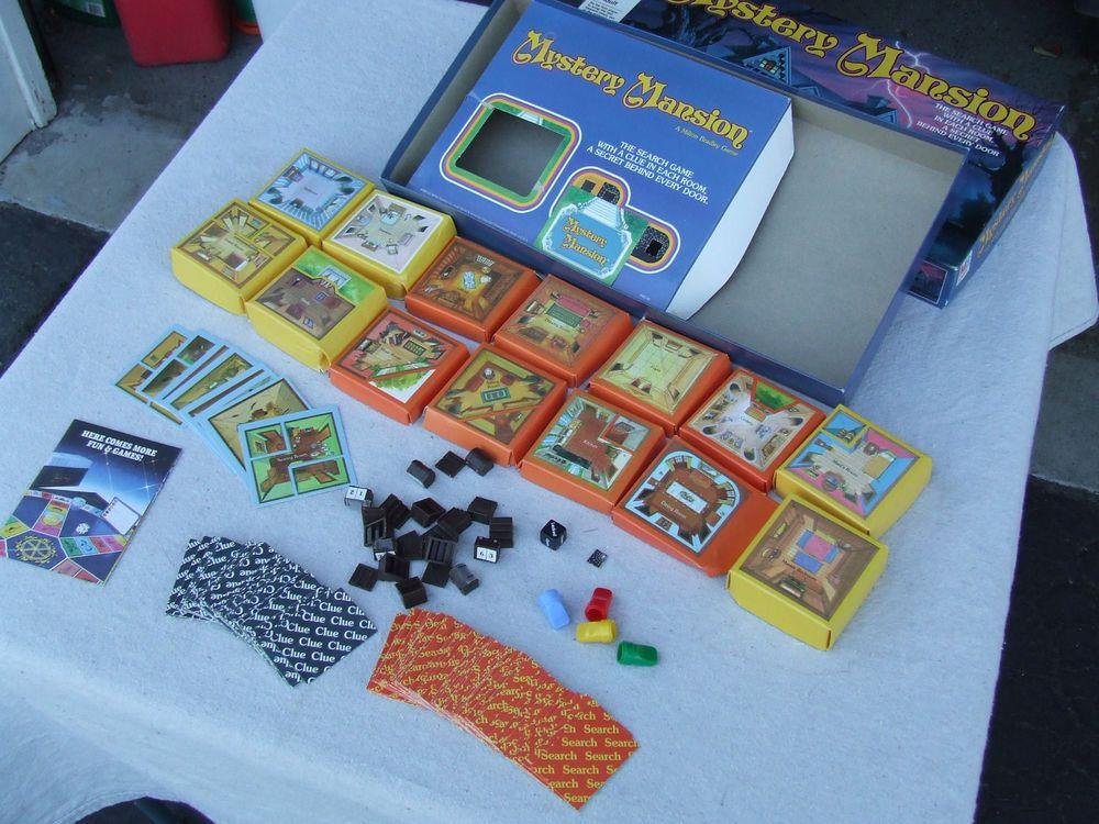 Mystery Mansion 1984 Vintage Milton Bradley Games Treasure