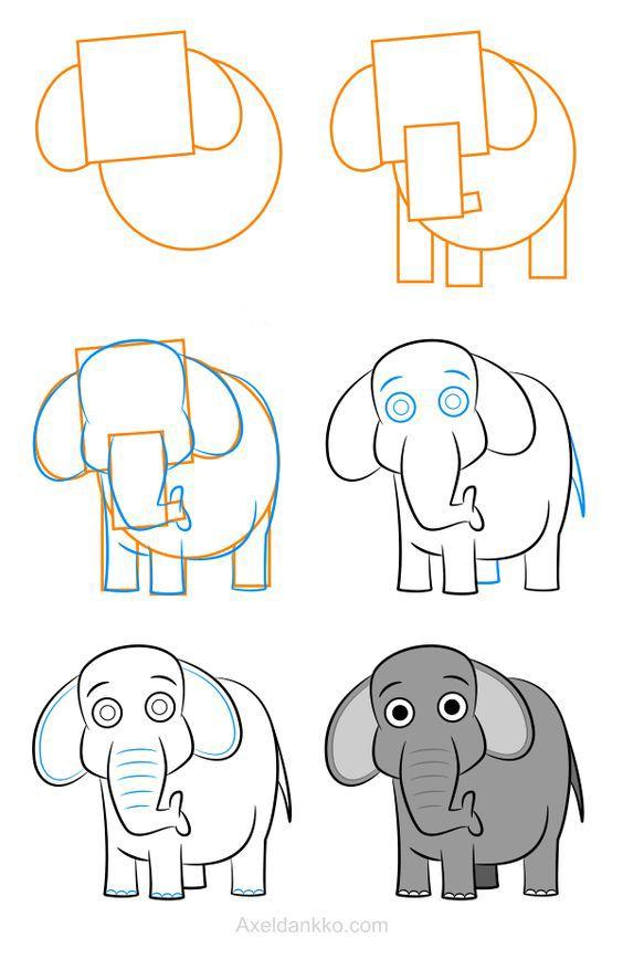 смотреть картинки как нарисовать слона мейд описательные схемы
