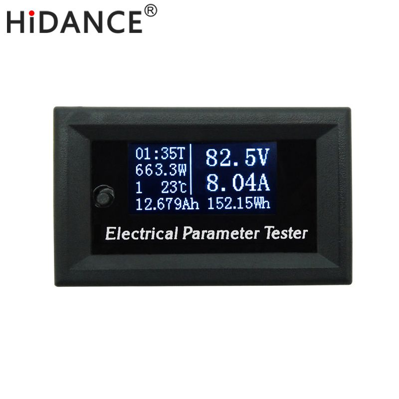 Hd Oled 100v Dc Voltmeter Display Monitor Tester Current Meters Charger Voltage Ammeter Battery Power Supply Capacit Electrical Tester Power Energy Electricity