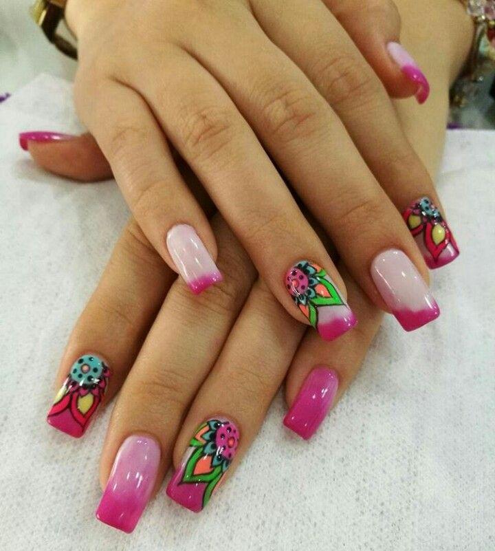 Pin de Jenny Cortes en diseño de uñas | Pinterest | Diseños de uñas ...