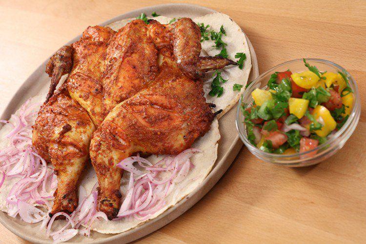 دجاج مشوي بالخلطة بالفيديو شاهدي بالفيديو طريقة عمل أطيب طبخات الدجاج من مطبخ منال العالم رمضان 2019 وصفة مثالية للعزومات بالطعم الشهي Cooking Food Turkey