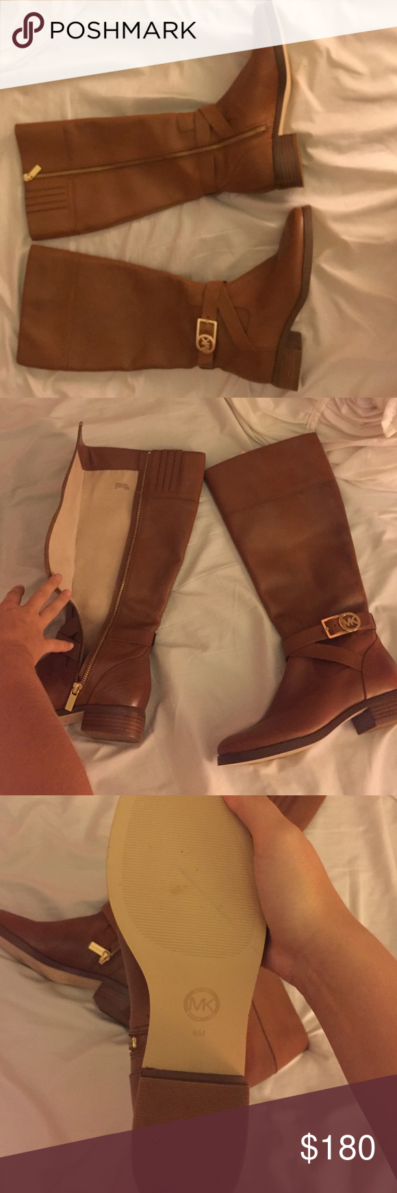 BRAND NEW MICHAEL KORS BOOTS MINT CONDITION 100% AUTHENTIC BROWN MICHAEL KORS BOOTS SIZE 6 Michael Kors Shoes