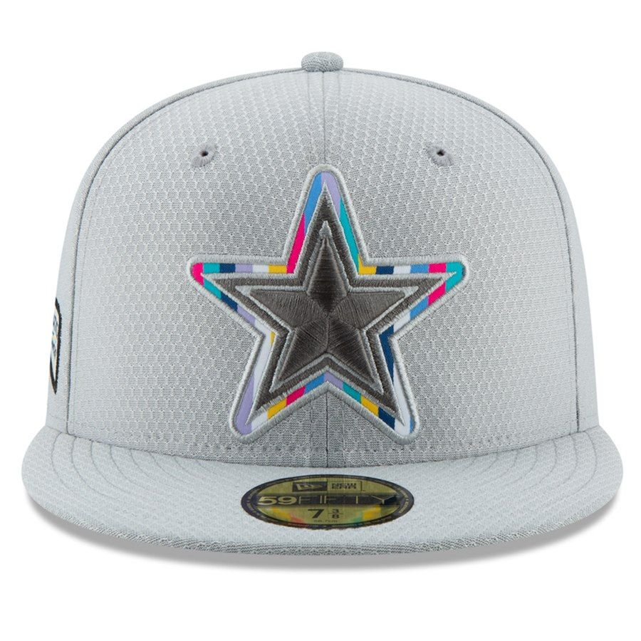 Dallas Cowboys Men s New Era Crucial Catch 59FIFTY Fitted Hat – Gray ... a131846e5