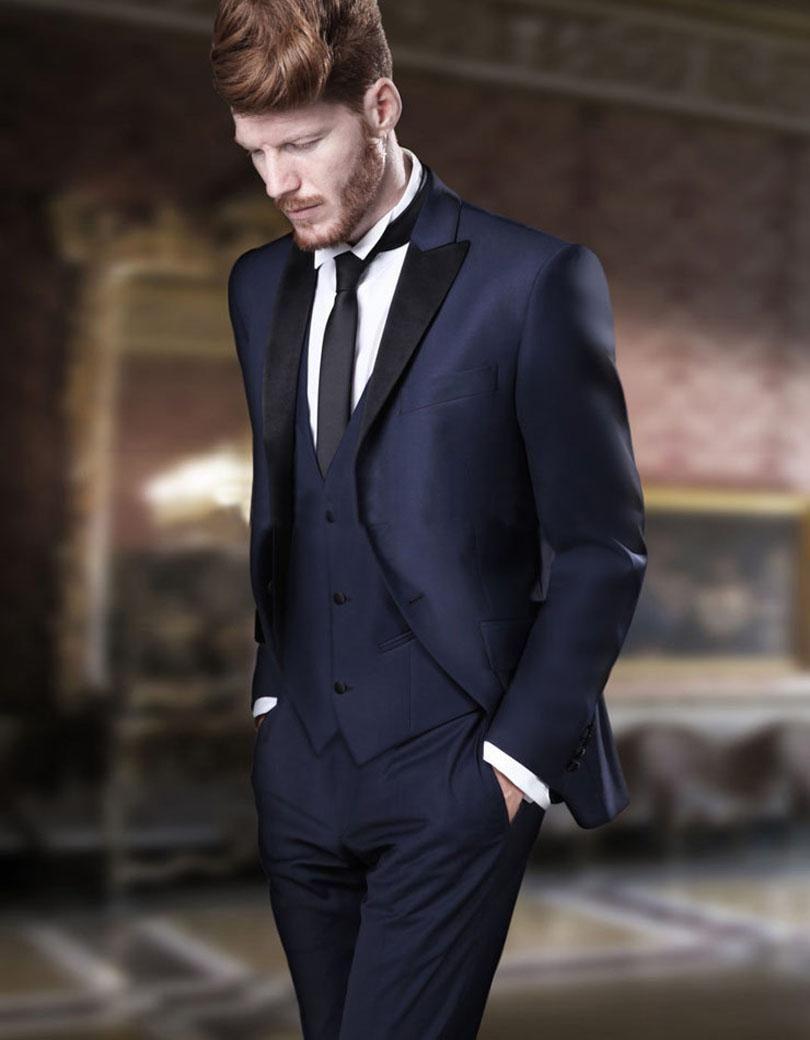 bc8f4790b51 2017 Latest Coat Pant Designs Navy Blue Men Wedding Suits Prom Tuxedo Slim  Fit 3 Piece Groom Suit Custom Blazer Terno Masuclino