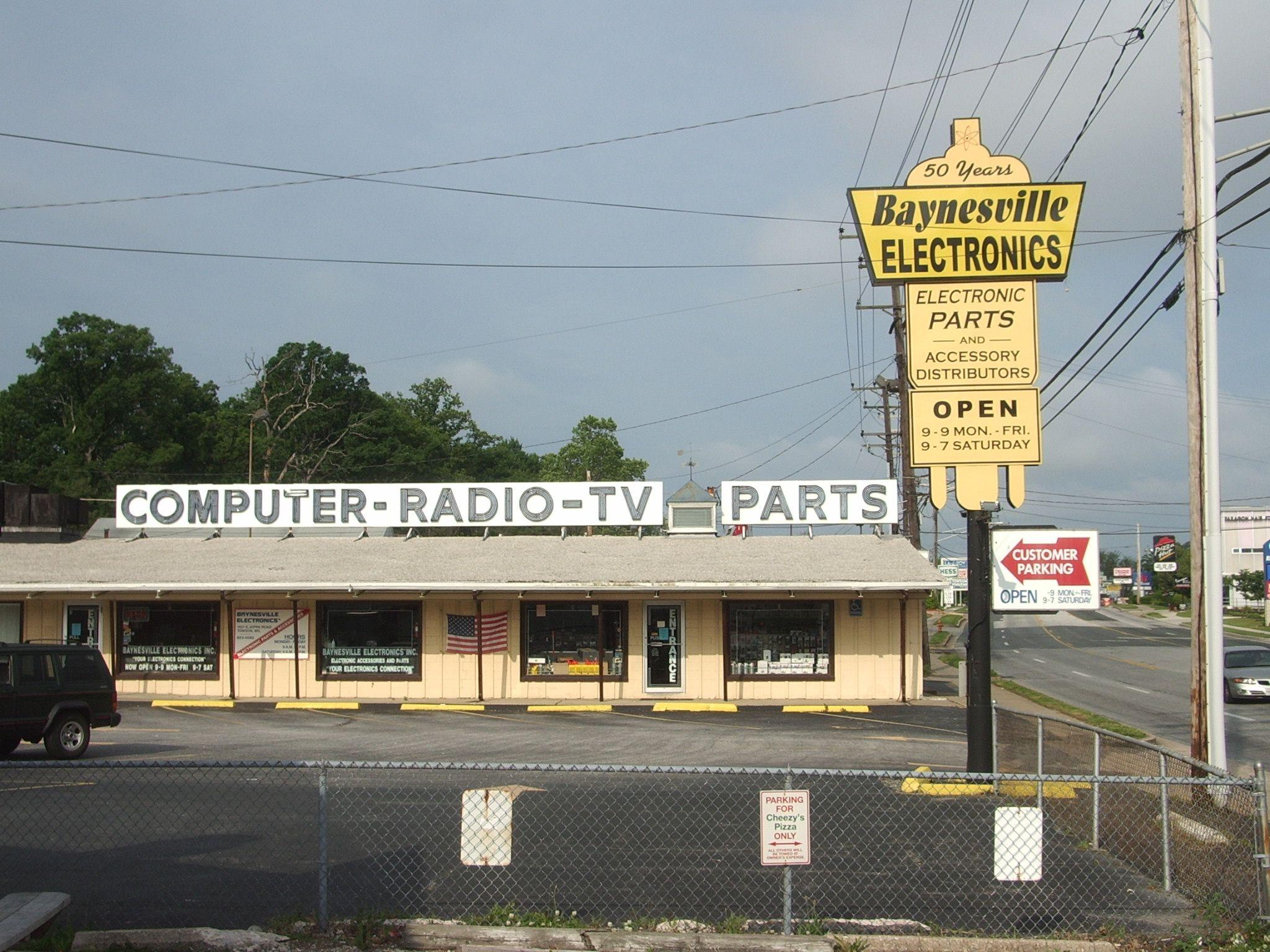 Baynesville Electronics - since 1955! 1631 E Joppa Rd ...
