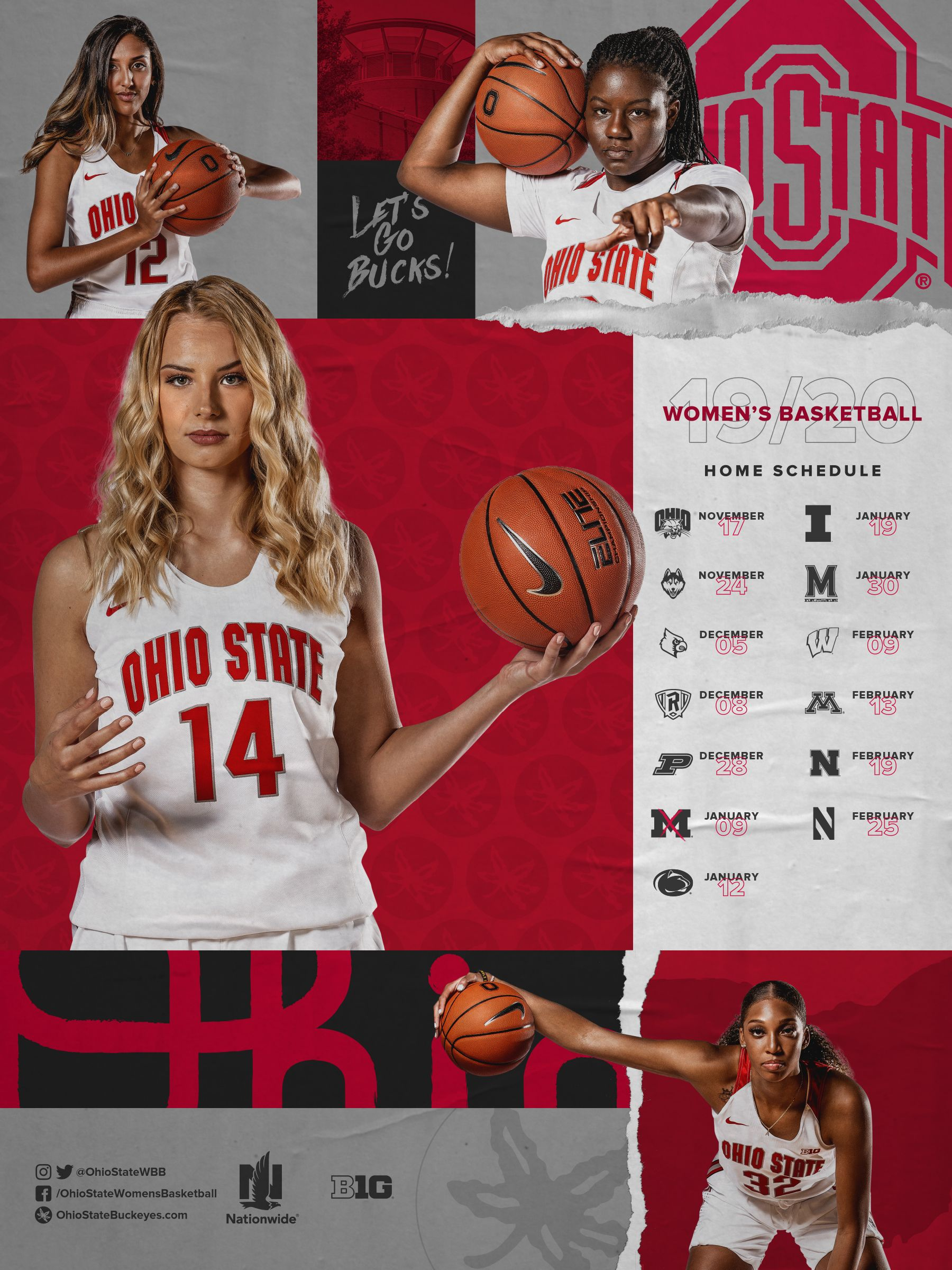Schedule Posters in 2020 Ohio state, Ohio state buckeyes