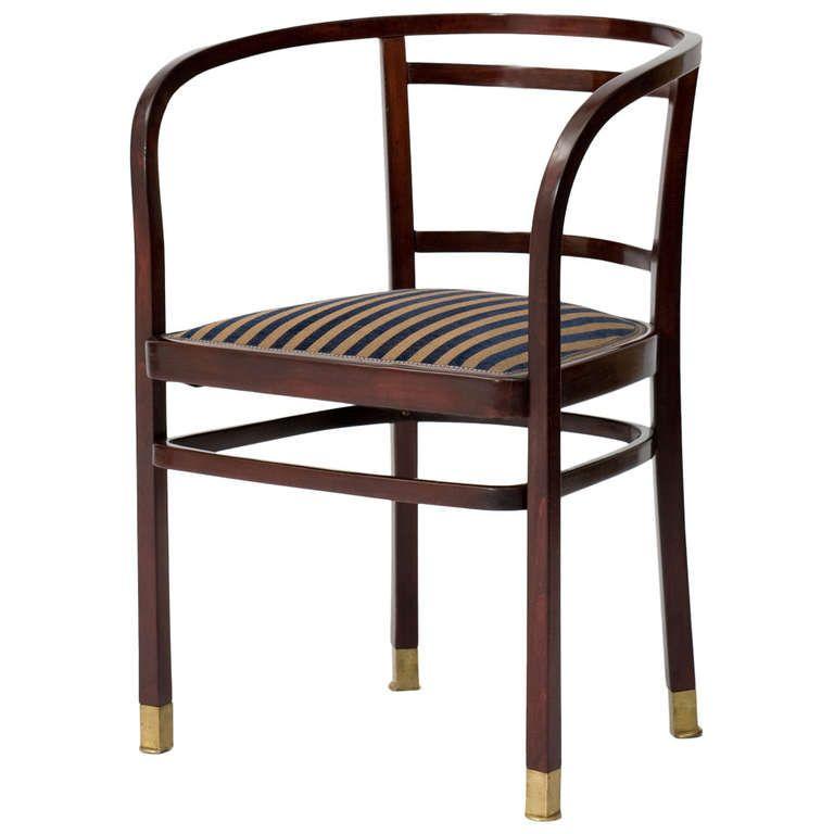 Otto Wagner, J. U0026 J. Kohn, Chair, Vienna Secession, 1902