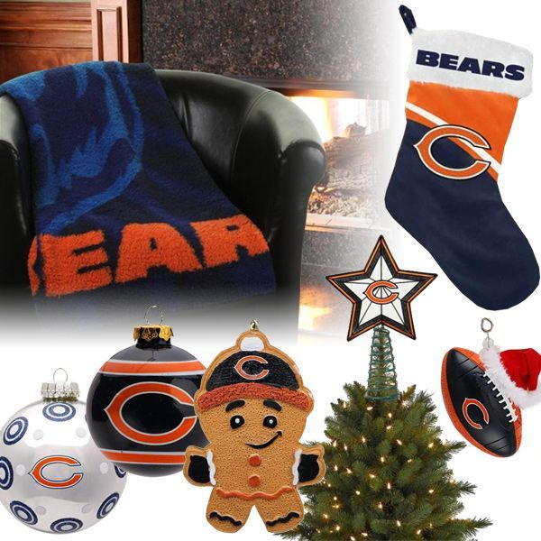 Chicago Bears Christmas Ornaments, Stocking, Tree Topper, Blanket - Chicago Bears Christmas Ornaments, Stocking, Tree Topper, Blanket