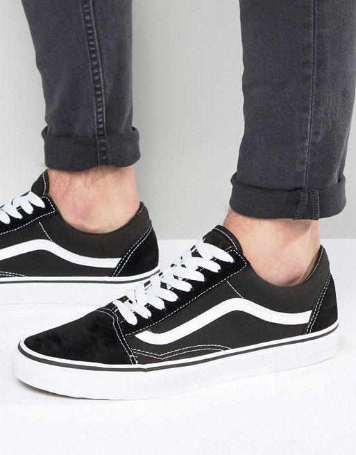 45128eef9b5 Vans Old Skool Sneakers In Black VD3HY28