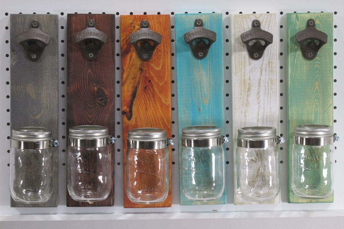 Personalisierte Wand montiert rustikale Flaschenöffner