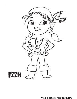 printable disney junior izzy coloring book pages