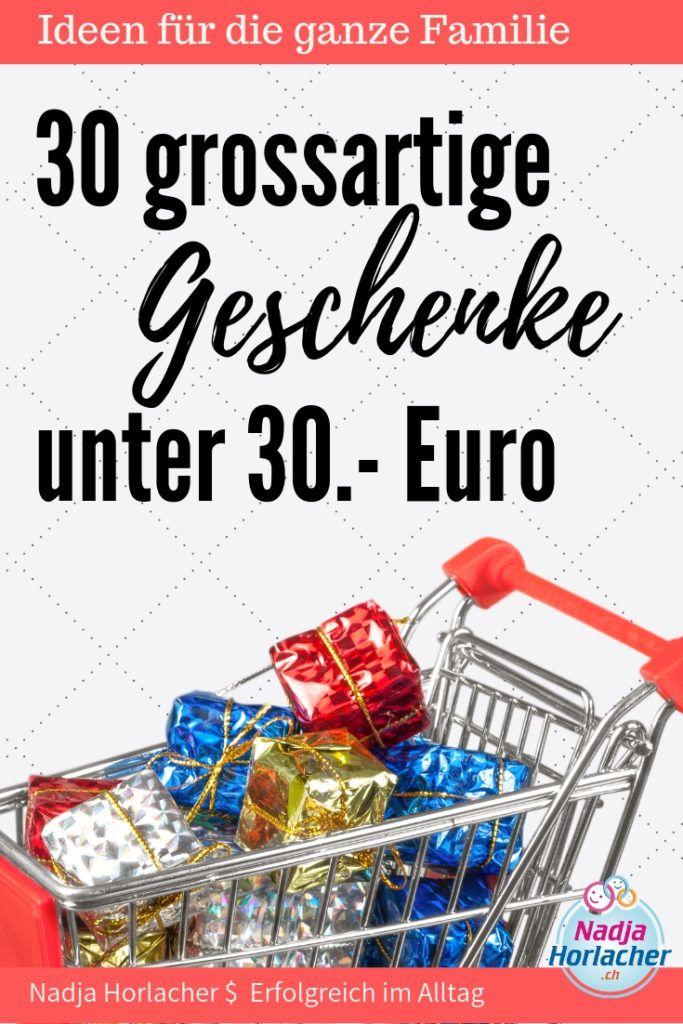 30 grossartige Geschenke unter 30 Euro | Spartipps | Pinterest