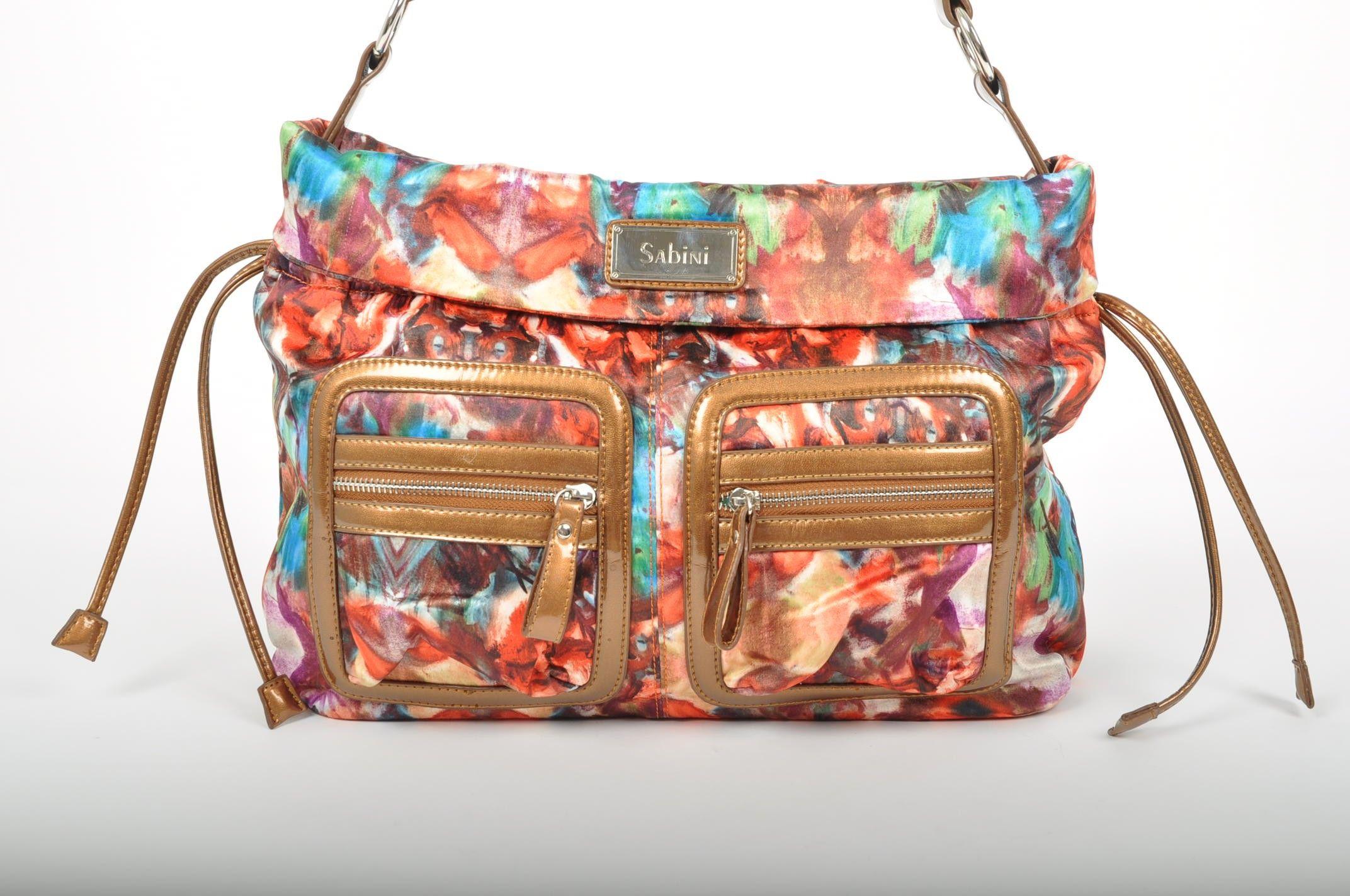Sabini S Rachael Tote In Orange Multi Handbags Online Print Patterns Backpacks