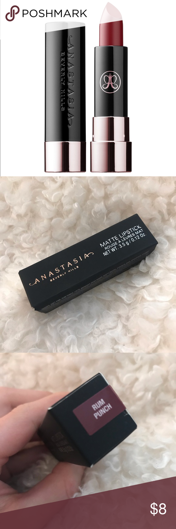 Anastasia Beverly Hills Matte Lipstick Rum Punch New In Box Completely Unused And Perfect Condition Anastasia Beverly Hills Lipstick Anastasia Beverly