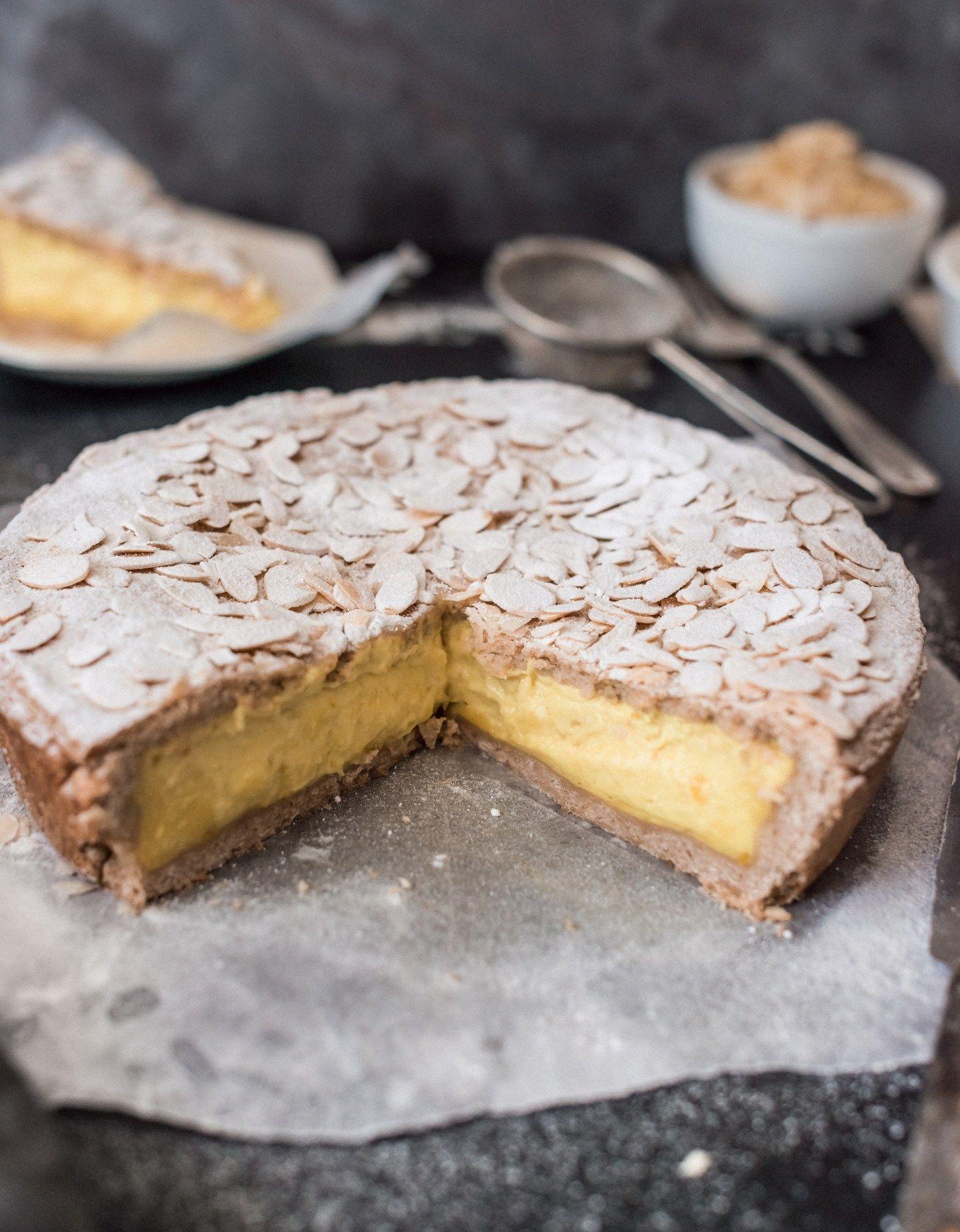Photo of Vegan Italian Custard Tart – Torta della Nonna